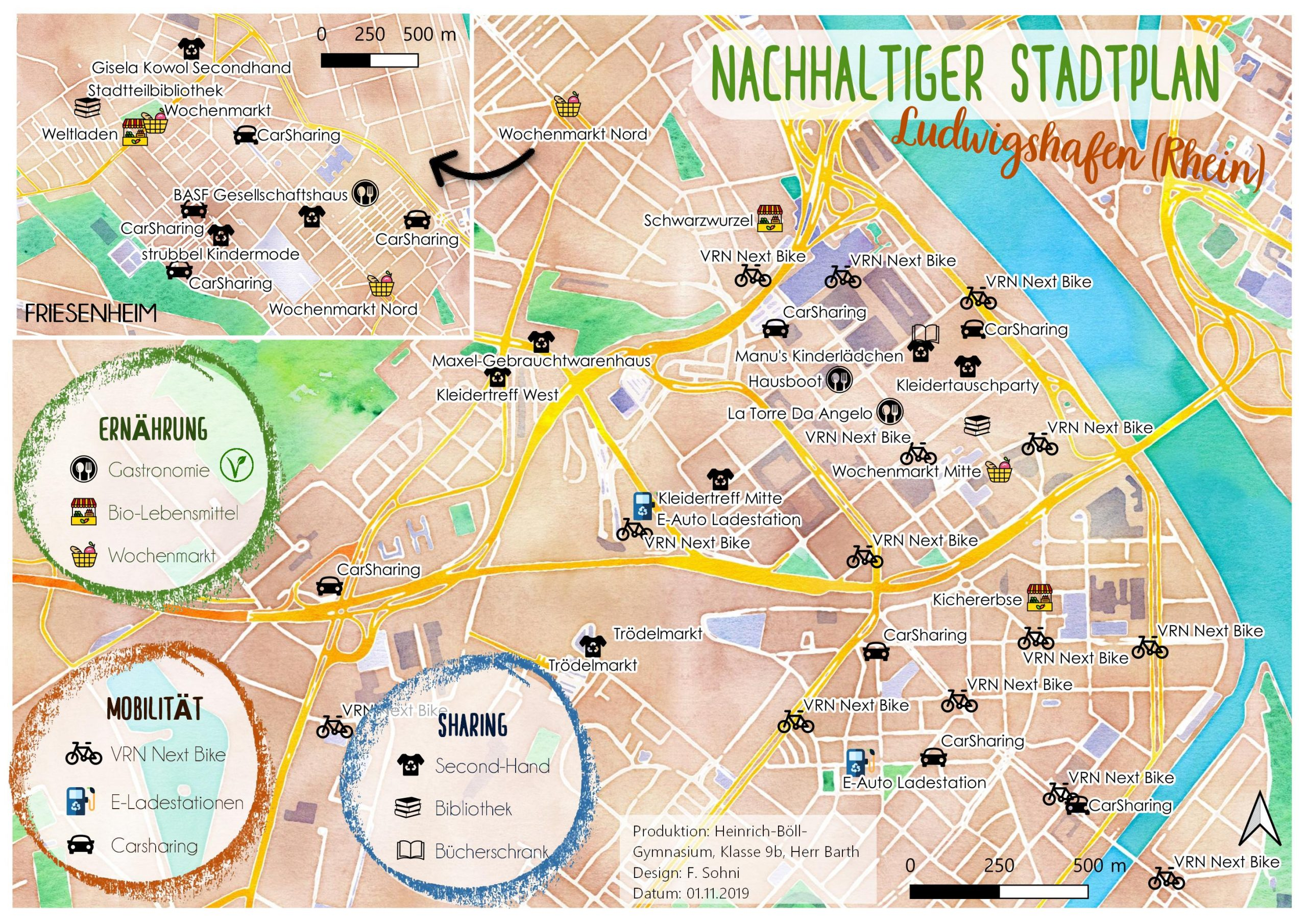 Nachhaltige Stadtkarte Ludwigshafen